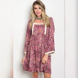 Pink/Mauve Boho dress